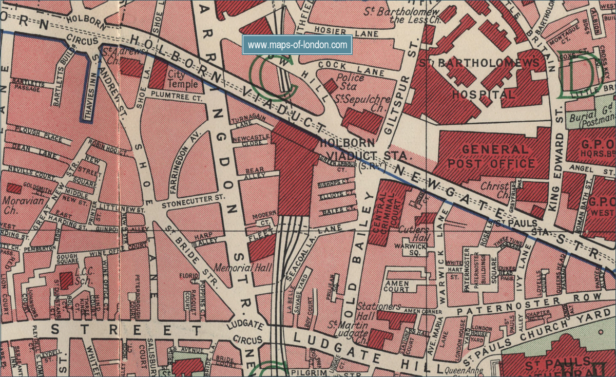 city of london map