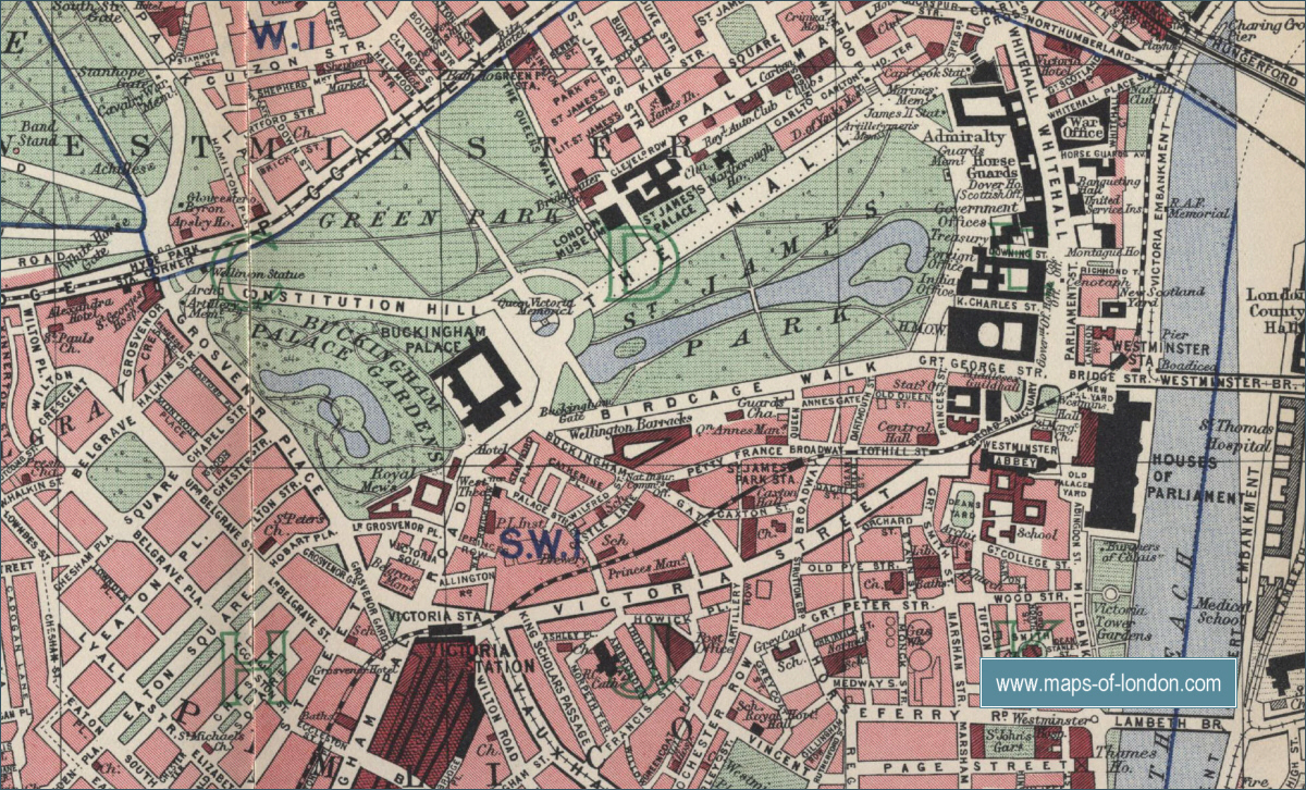 Places of Interest in London – Large London Map