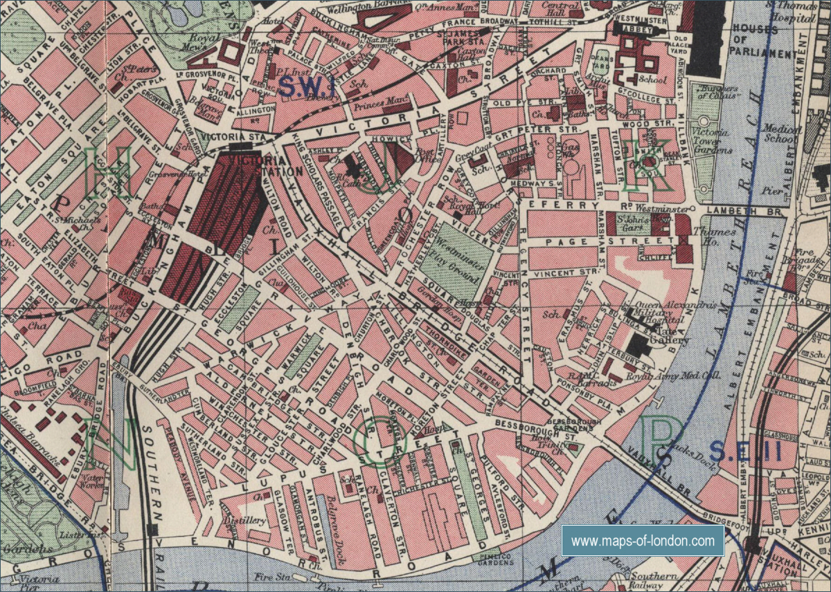 Map Of London 1900.Map Of Chelsea London
