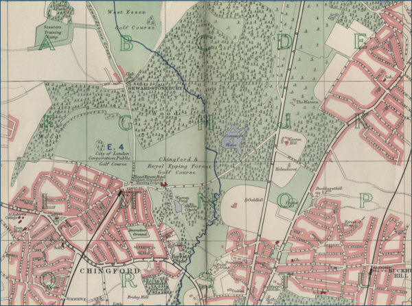 Map of Chingford, London