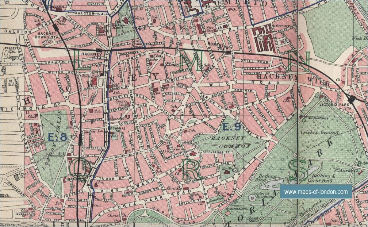 Old Street London Map.Map Of Hackney London