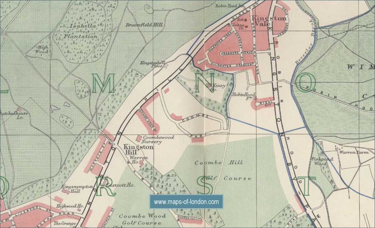 Map Of Richmond Park London