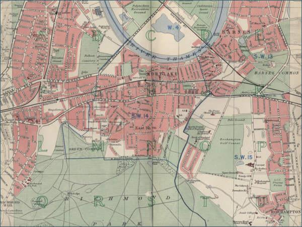 Richmond London Map.Map Of Richmond London