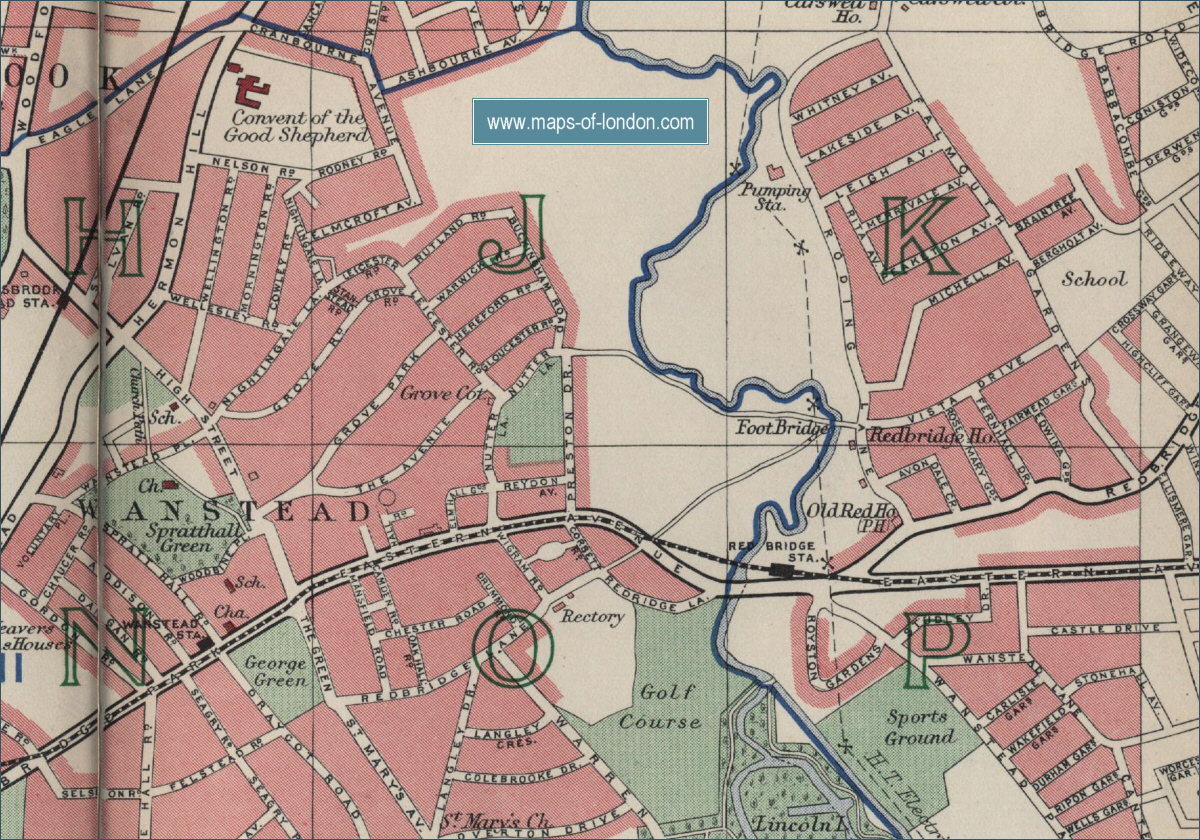 Map of Wanstead London